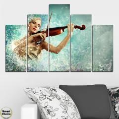 SmartChoiceBG | Декорация за стена от 5 части с красива цигуларка - HD-075 | 0 харесвания