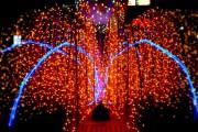 фонтан от светлини